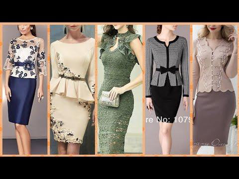Most tranding 2021 daily work wear women elegant two peace dress skert with jacket dress slimfit drs