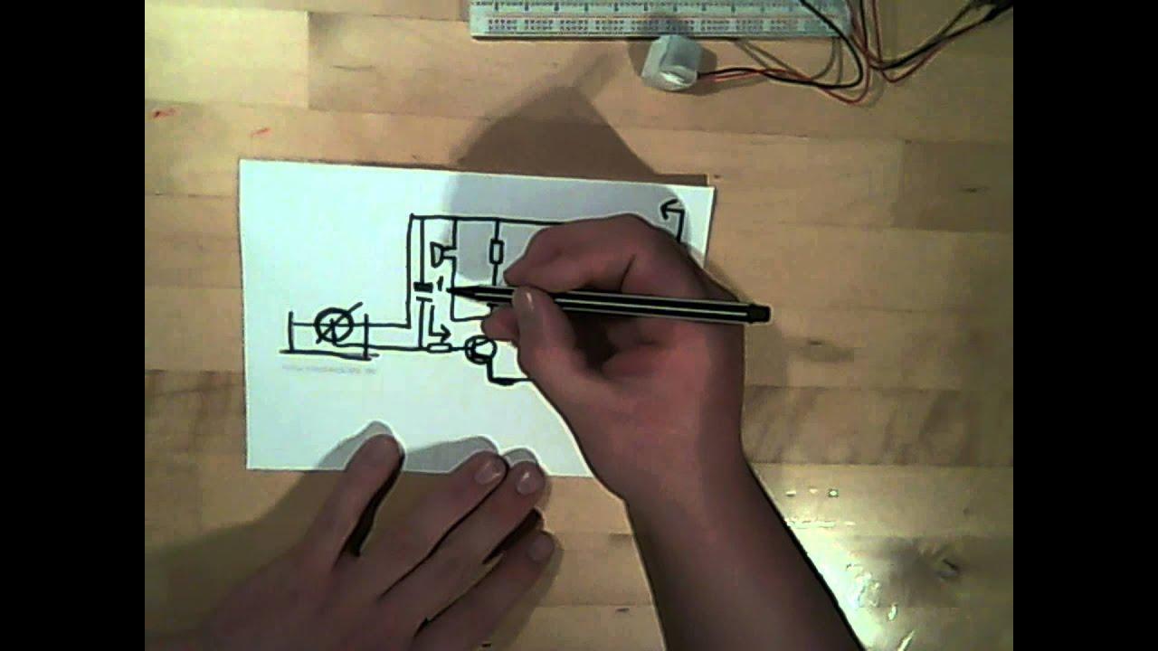 Heißer Draht tutorial teil 3, mit transistor und kondensator - YouTube