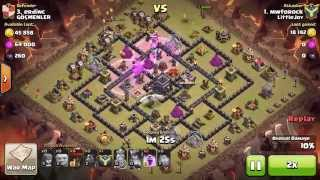 Clash of Clans: Another how to own a penta lavaloon!!! TH9 vs TH9