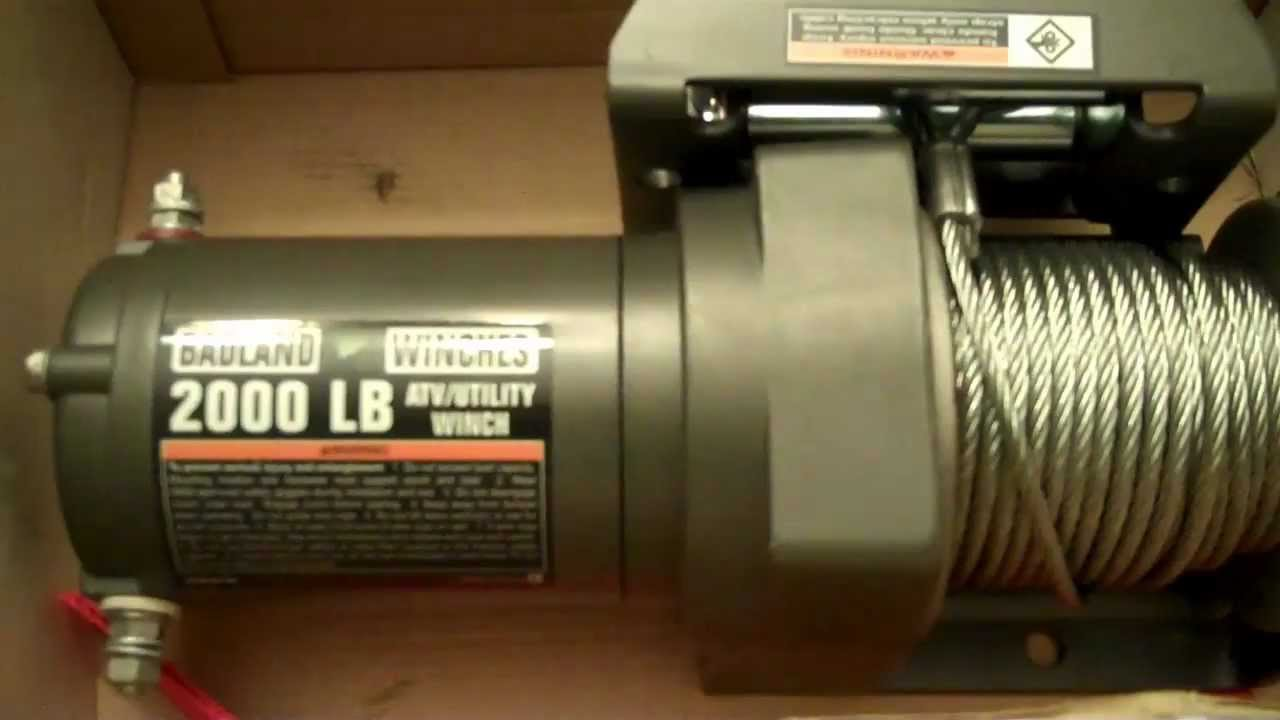 Badland Winch 2000lbs - Harbor Freight - cheap - YouTube on t-max winch remote wiring diagram, 12 volt winch wiring diagram, electric winch wiring diagram, 4 wheeler winch wiring diagram, atv winch wiring diagram, mile marker winch wiring diagram, superwinch 2500 wiring diagram, ramsey winch wiring diagram, badlands 9000 lbs winch wiring diagram, trakker winch wiring diagram, pierce winch wiring diagram, remote winch control wiring diagram, winch solenoid wiring diagram, badland winch replacement parts, 12 000 lb badlands winch wiring diagram,