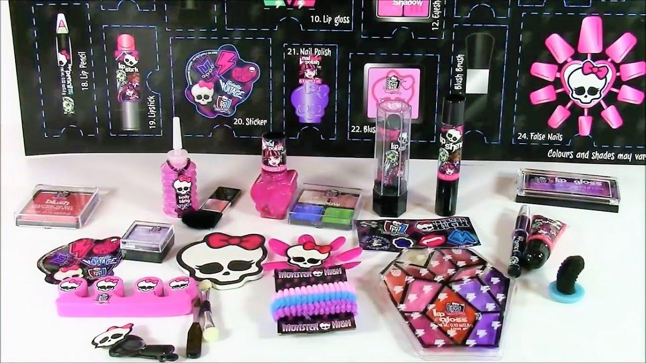 Monster high косметика сюрприз календарь купить купить детскую декоративную косметику оптом