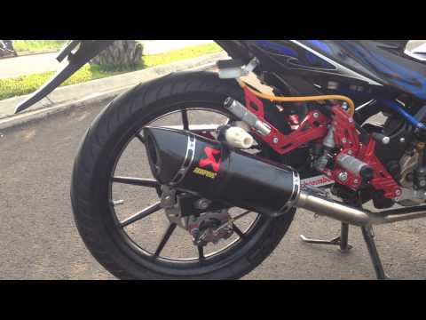 Akrapovic Racing Line Exhaust Yamaha R6 Slip On - Suzuki Satria F 150