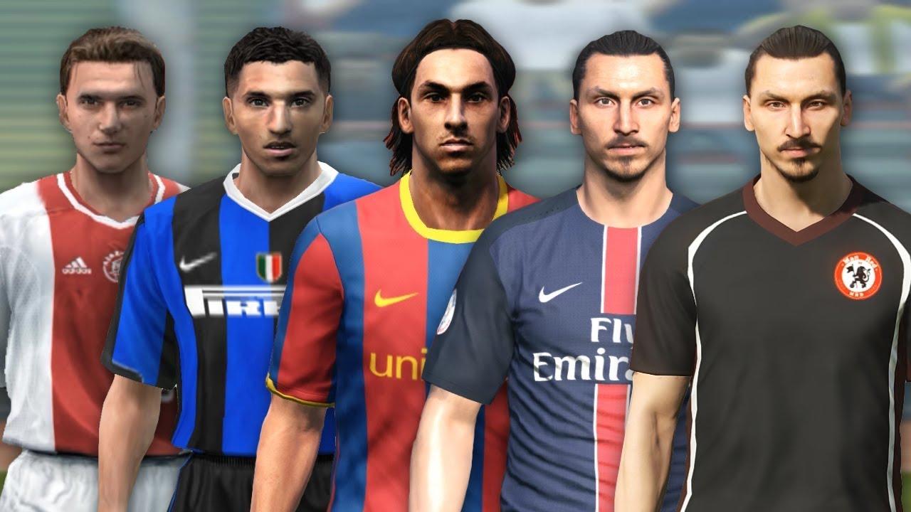 Zlatan Ibrahimovic evolution from PES 3 to PES 2018