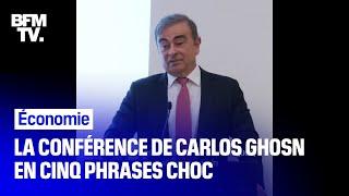 La conférence de presse de Carlos Ghosn en cinq phrases choc