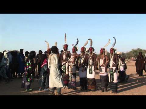 African Art:  Fulani Men Dance at the Gerewal Celebration in