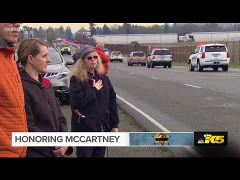 Complete procession for Deputy McCartney