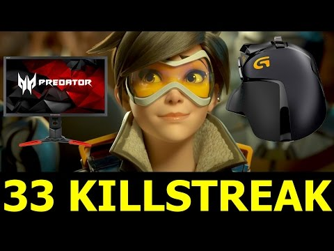 Tracer 33 Killstreak - Do You Think Overwatch Will Succeed? + New Gaming Gear (Tracer Gameplay)