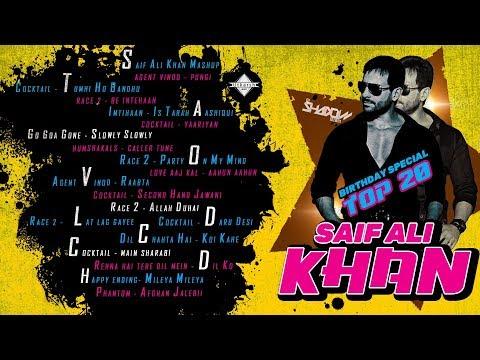 Saif Ali Khan Top 20   Birthday Special   DJ Shadow Dubai