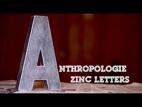 DIY Anthropologie Inspired Zinc Letters