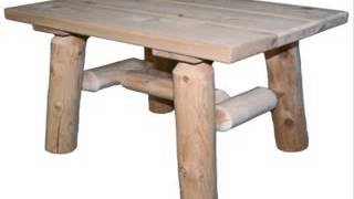 Lakeland Mills Cedar Log End Table Natural