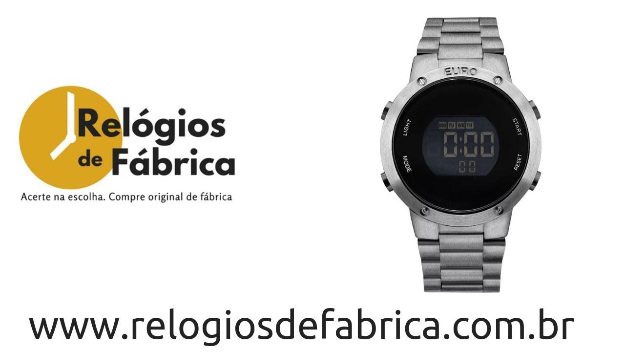 d06056efe7e RELÓGIO EURO FEMININO FASHION FIT PRATA GRAFITE EUBJ3279AE 4K - Relógios de  Fabrica