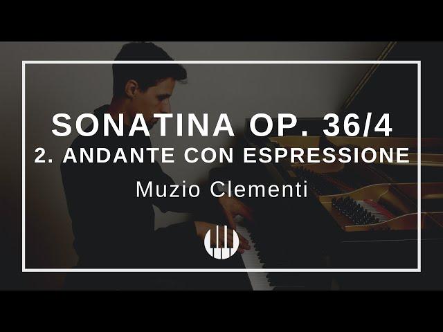 Sonatina Op. 36/4 in F-major - 2. Andante con espressione von Muzio Clementi
