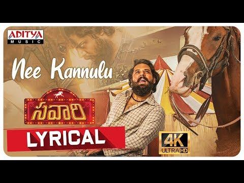 nee-kannulu-lyricial-||-rahul-sipligunj-||-savaari-songs-||-shekar-chandra-||-nandu,-priyanka-sharma