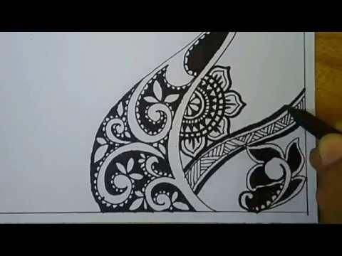 How To Vignette Zentangle Art Batik Pola Doodle Art Youtube