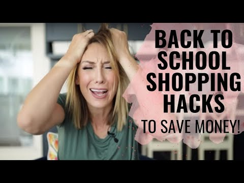 Back-to-School Shopping HACKS to Save MONEY!