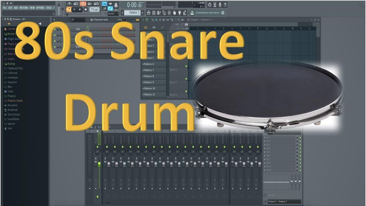 how to make 80s snare drum sound youtube. Black Bedroom Furniture Sets. Home Design Ideas