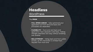 Face Your Fear: The Headless WordPress! - WordCamp Singapore 2019