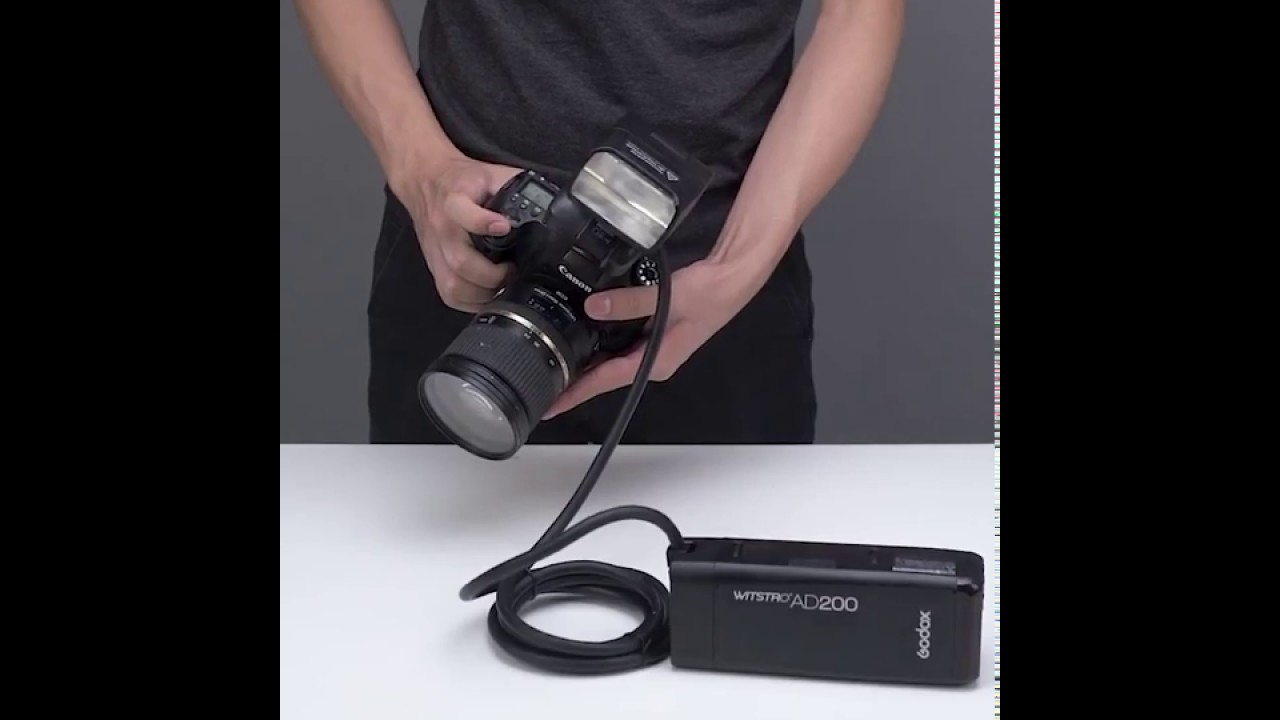 Tutorial:How to use EC200 with your camera and Godox AD200 FLASH
