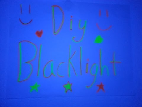 Diy Blacklight- easy and quick blacklight!