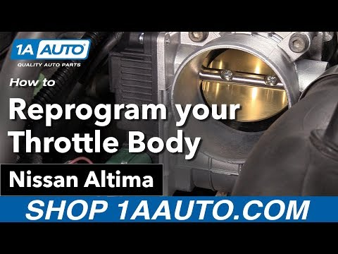 How to Reprogram your New Throttle Body 02-06 Nissan Altima