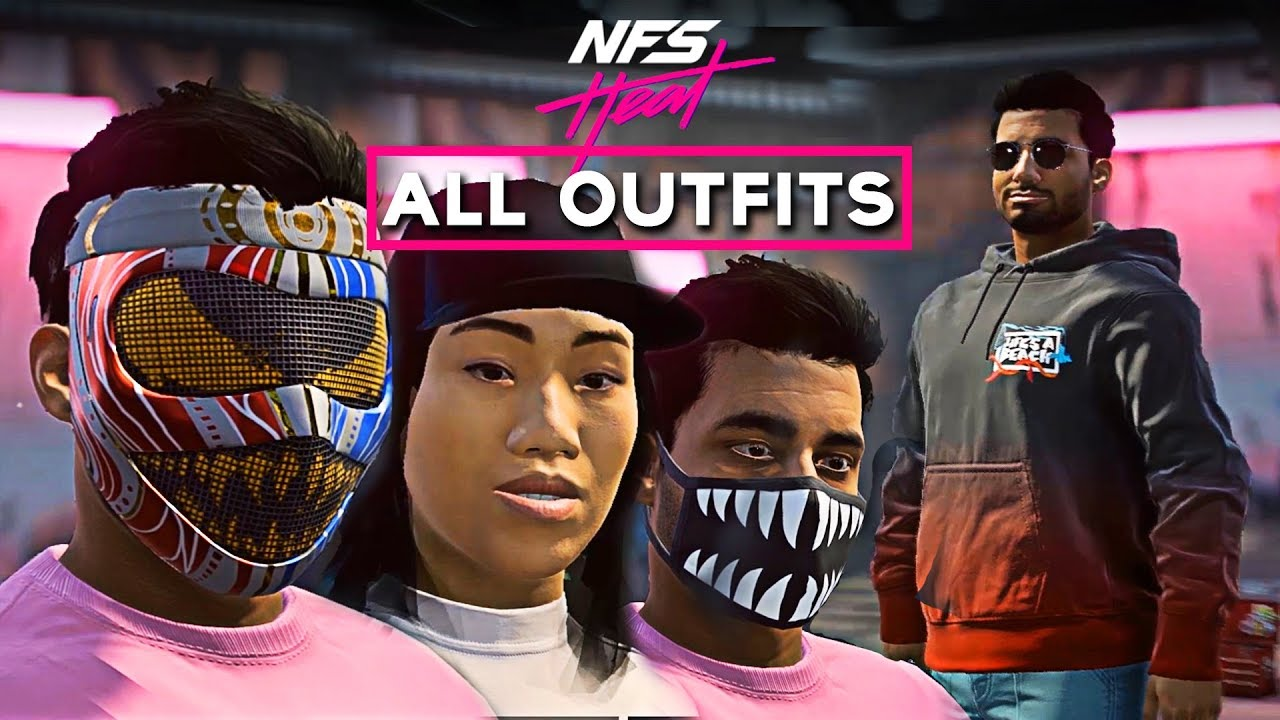 Need For Speed Heat All Outfits Male Female All Character Customization Youtube
