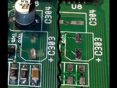 PCB solder pad repair & corrosion clean up - The epoxy metho
