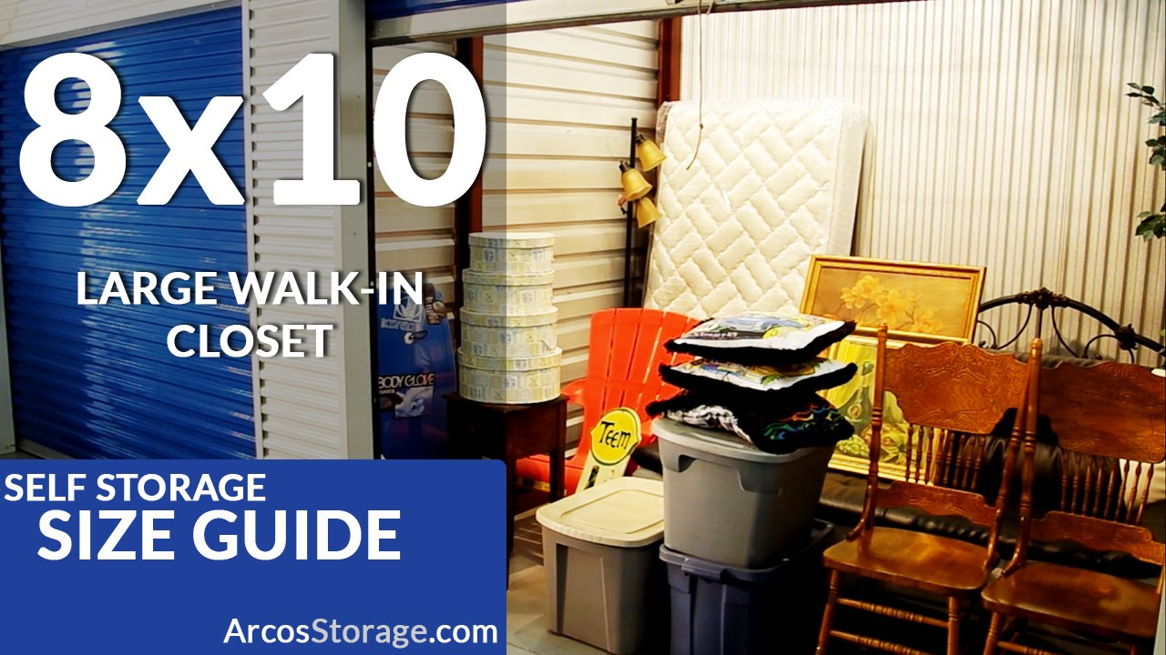 8x10 Size Guide: Self Storage   YouTube