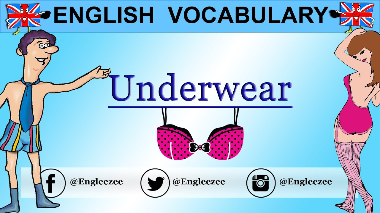 Learn English Lingerie Underwear Clothes Vocabulary