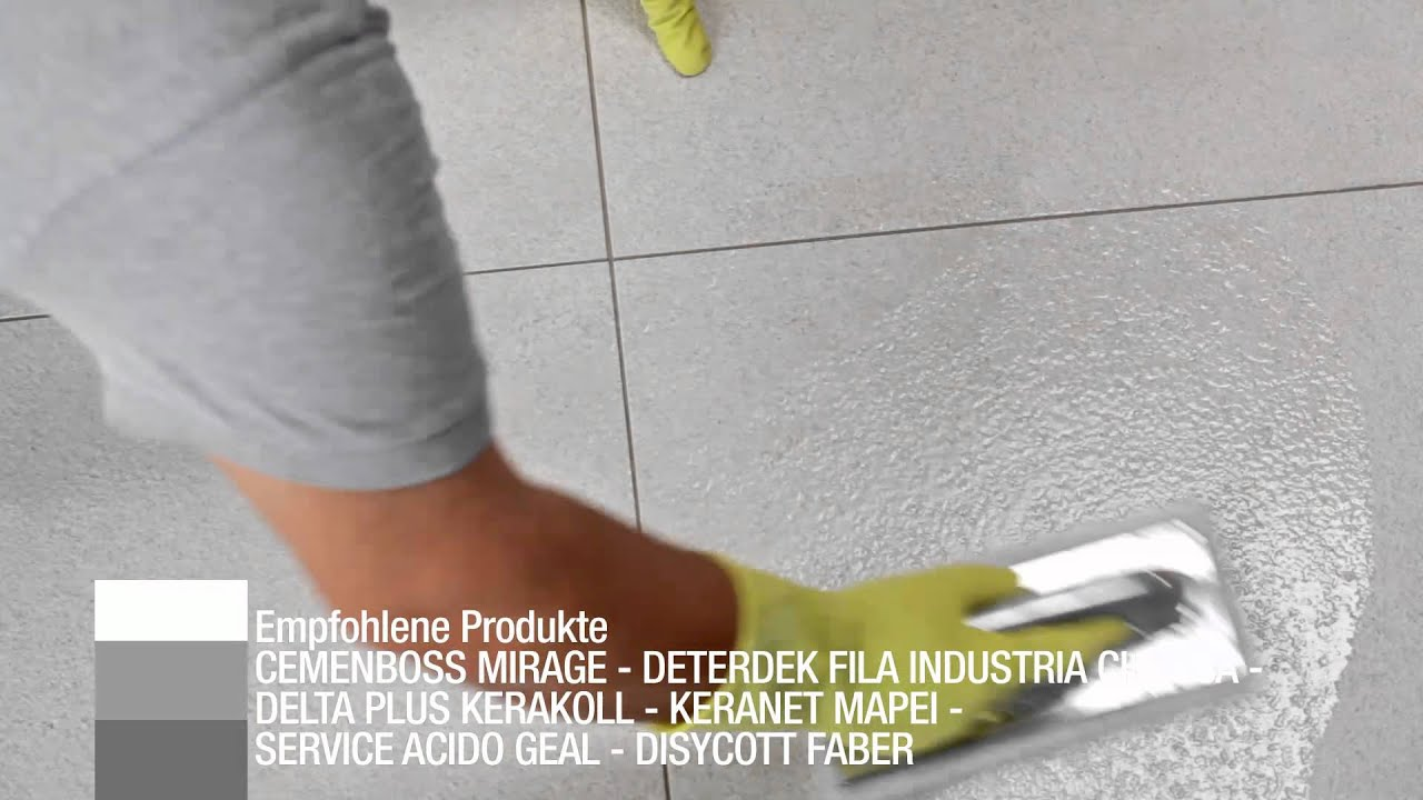 Reinigung Nach Der Verlegung Mirage Keramikgranit YouTube - Fliesen nach dem verlegen reinigen