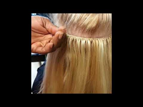 ONE MINUTE TUTORIAL  TRACK WEAVES ON 'THIN' CAUCASIAN HAIR