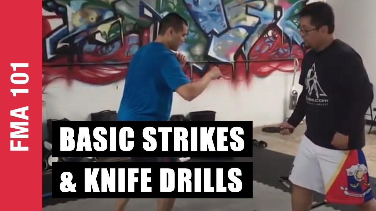 Basic Strikes & Knife Drills | Concepts in Filipino Martial Arts | Kali | Arnis | Eskrima