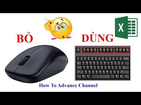 Excel Sử Dụng Bàn Phím Thay Cho Chuột Bằng Phím Tắt Thính - Super Key - Master Shortcut Key