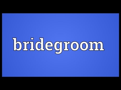 Bridegroom Meaning