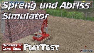 Spreng und Abriss Simulator PlayTest Krach Bumm und der fliegende Kirchturm deutsch HD
