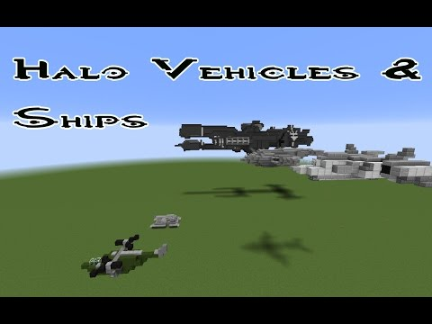 Minecraft-Halo Vehicles And Ships