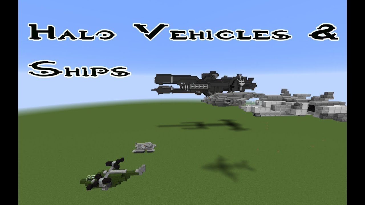 Minecraft-Halo vehicles and ships - YouTube