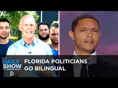 Florida Politicians Go Bilingual for the Hispanic Vote | The Daily Show
