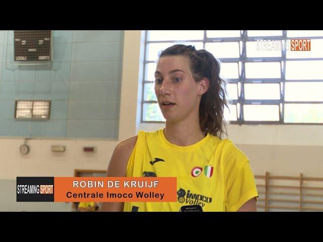INTERVISTA CON  ROBIN DE KRUIJF  -  IMOCO VOLLEY CONEGLIANO