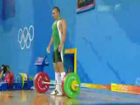 Weightlifting accident - Beijing 2008 (video)