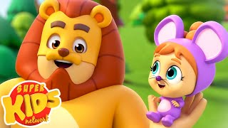 Lion and The Mouse Story | Baby Rhymes & Nursery Songs | Super Supremes | Super Kids Network