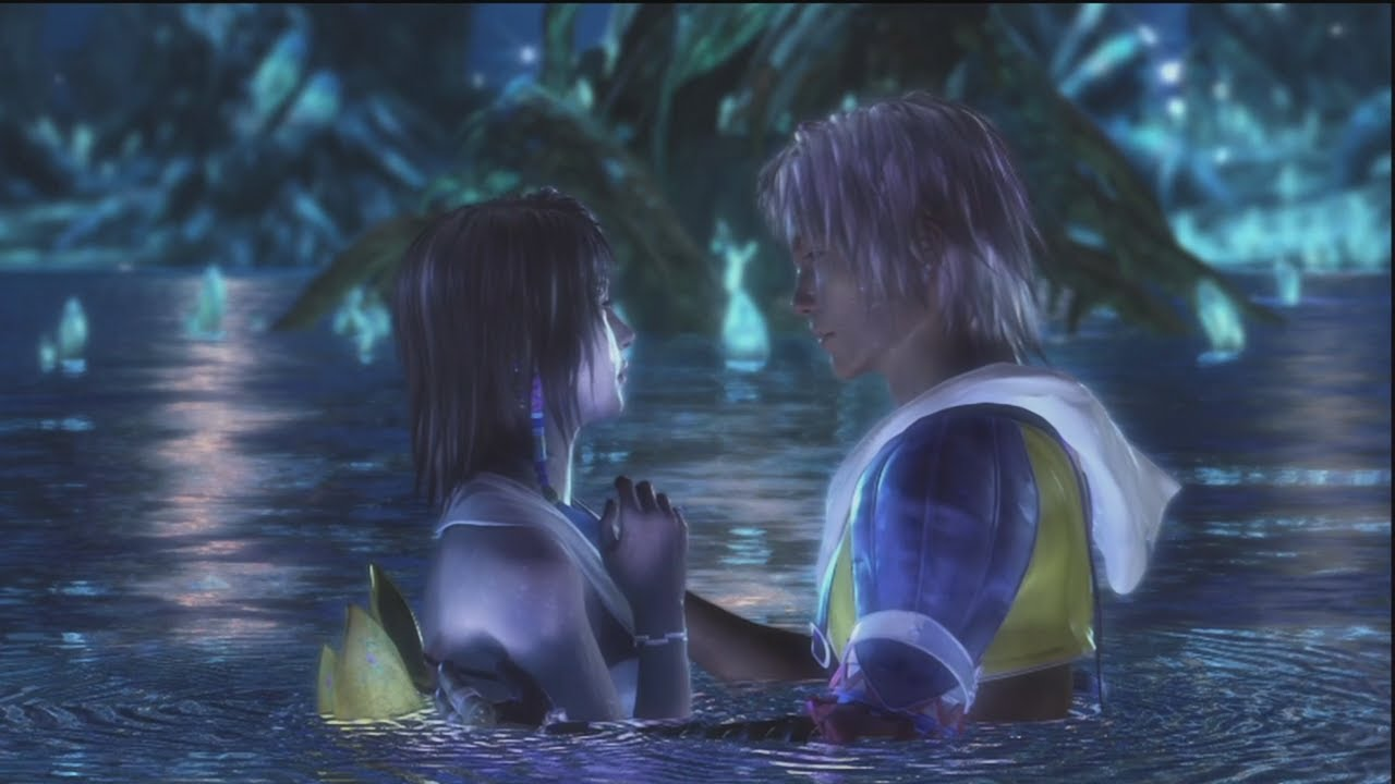 FFX Lake Macalania scene - Tidus and Yuna