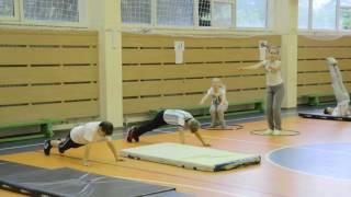 Открытый урок учителя физической культуры Попова В.В.