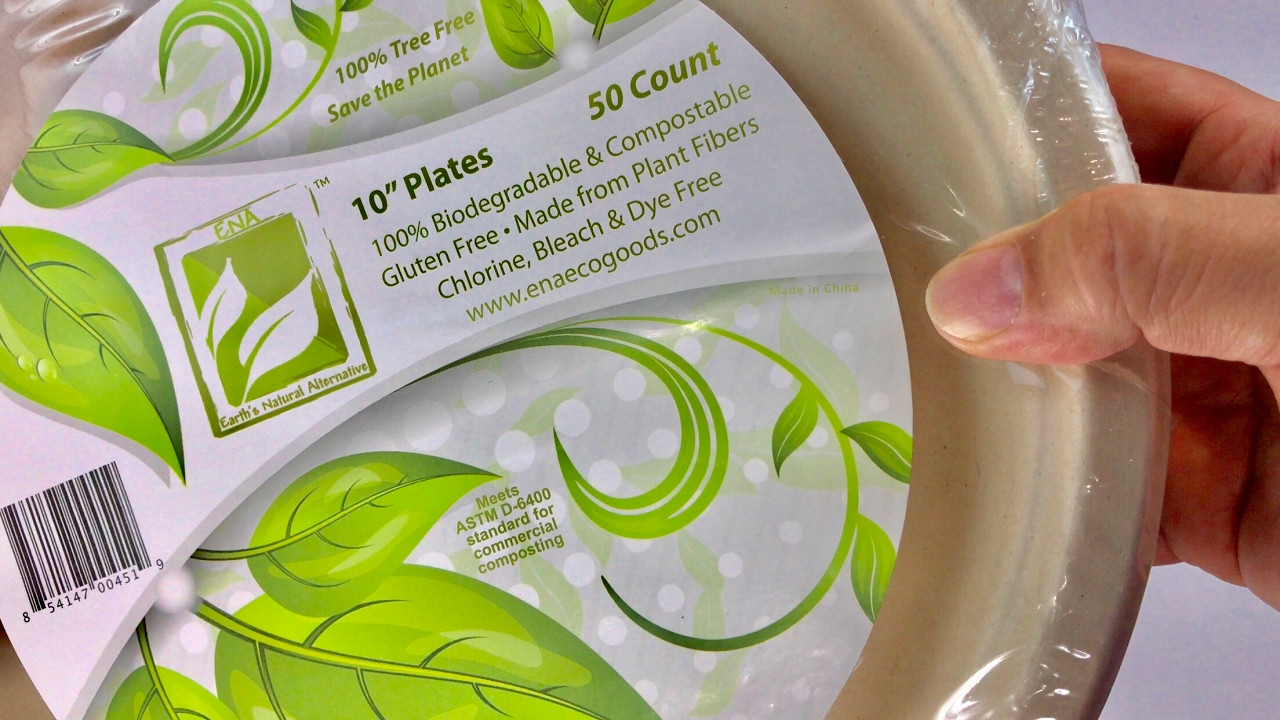 100% Biodegradable and Compostable, Disposable 10