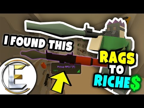 FINDING EPIC ITEMS | Unturned Rags to Riches #10 - Sold the RPG for the HIGHTEST Price (Roleplay)