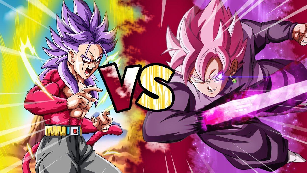 Goku Black Ssj Rose Para Colorear: Super Saiyan 4 Future Trunks RAGE Vs SSJ Rose Goku Black