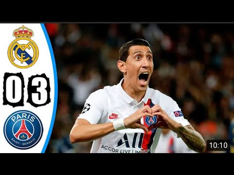 Psg vs real madrid ft all goals and highlights champions league di maria scores amazing goal18/09/19