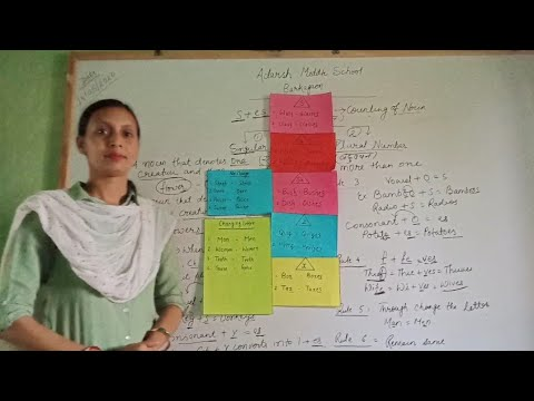 Singular Number And Plural Number By Nilu Kumari/ Part III/ ENGLISH GRAMMAR