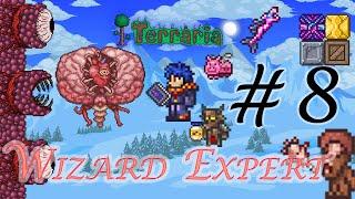 Terraria Wizard บทที่ 8 บอสกำแพงหรอ ไม่เห็นหน้าพี่ก็ฆ่าได้ 555+ โคตรจะโกง