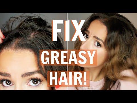 Make GREASY/FINE Hair Look FULL/CLEAN!! - YouTube