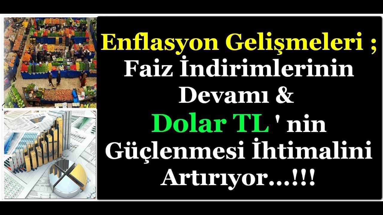 DOLAR TL ; ENFLASYON VERİLERİ FAİZ İNDİRİMİ BEKLENTİLERİNİ ARTIRIYOR...